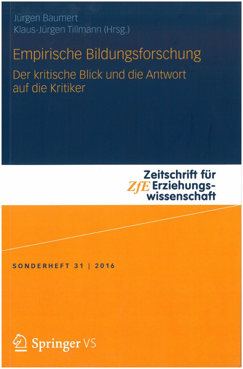 Cover des Sonderheftes der Zeitschrift für Erziehungswissenschaft zur empirischen Bildungsforschung 31-2016